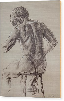 Man's Back Wood Print by Sarah Parks