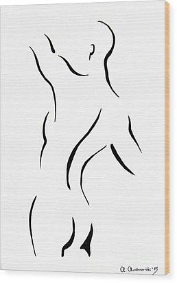 Man's Torse Wood Print by Anna Androsovski