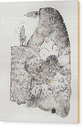 Mans Worship Of The Unknown With Uncanny Fever Hark Hark Wood Print by Mark M  Mellon