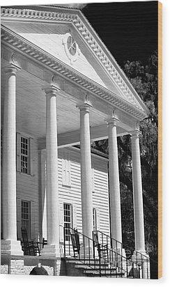 Mansion Wood Print by John Rizzuto