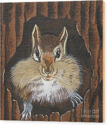 Wood Print featuring the painting Manty by Jennifer Lake
