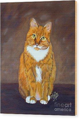 Manx Cat Wood Print