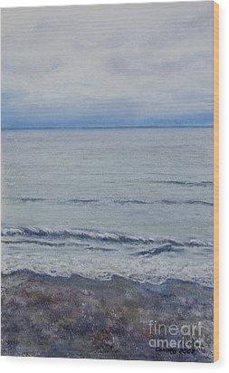 Manx Mist Wood Print by Stanza Widen