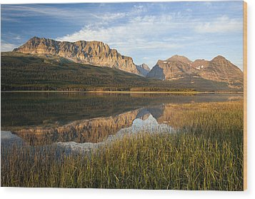 Wood Print featuring the photograph Many Glacier Reflections by Jack Bell