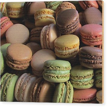 Many Mini Macarons Wood Print