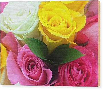 Wood Print featuring the photograph Many Roses by Alohi Fujimoto