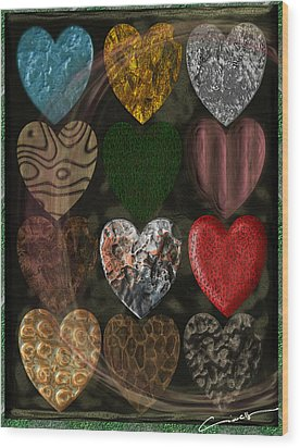 Many Types Of Love Wood Print