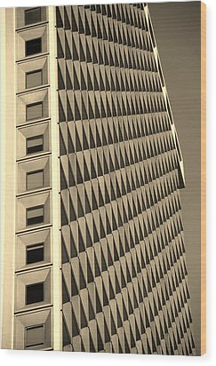 Many Windows In Sepia Wood Print by Rob Hans