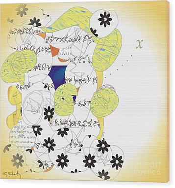 Wood Print featuring the digital art Map by Gabrielle Schertz