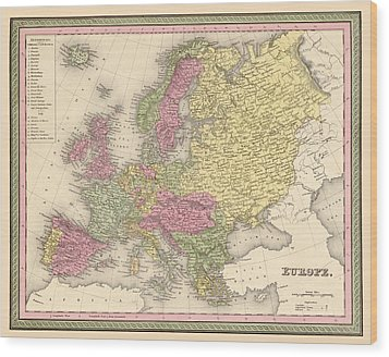 Map Of Europe Wood Print by Gary Grayson
