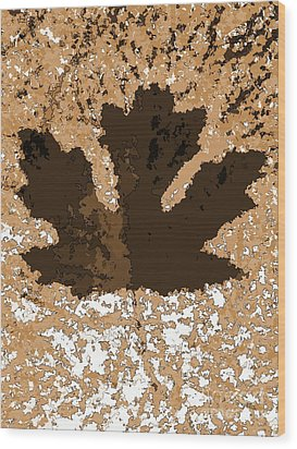 Maple Leaf Brown  Hues Wood Print