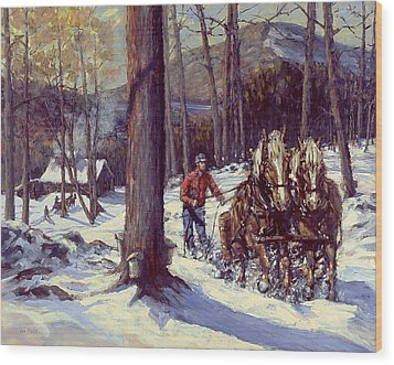 Maple Sugar Time Wood Print