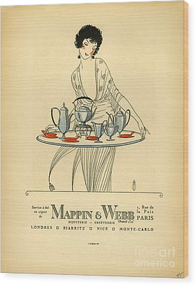 Mappin And Webb  1920s France Cc Tea Wood Print by The Advertising Archives