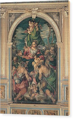 Marascalchi Pietro, Our Lady Of Mercy Wood Print by Everett