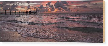 Marathon Key Sunrise Panoramic Wood Print by Adam Romanowicz