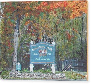 Marathon Park Wood Print