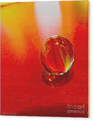 Marble Shine Wood Print by Debbie Portwood
