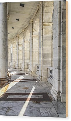 Wood Print featuring the photograph Marble Sunlight And Silence by Ross Henton