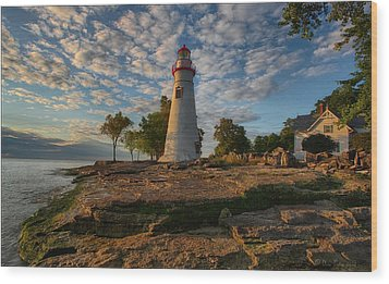 Marblehead Lighthouse Wood Print by Daniel Behm