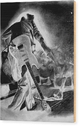 Marc Bolan On Stage Wood Print