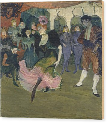 Marcelle Lender Dancing The Bolero In Chilperic Wood Print by Henri de Toulouse-Lautrec