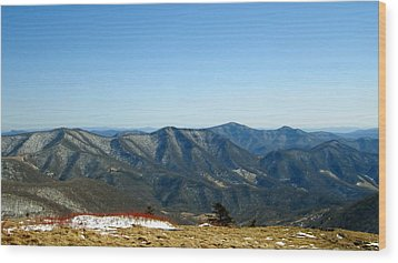 March Snow In The Mountains Wood Print