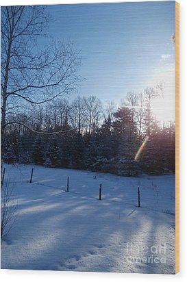March Sunrise Wood Print by Steven Valkenberg