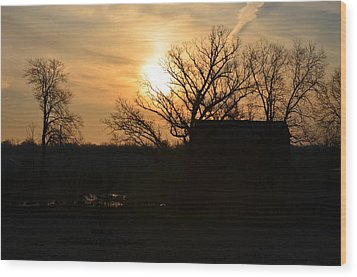 March Sunrise3 Wood Print by Jennifer  King