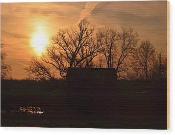 March Sunrise4 Wood Print by Jennifer  King