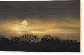 March Sunset Wood Print