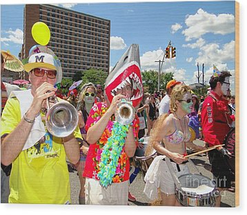 Wood Print featuring the photograph Marching Band by Ed Weidman