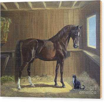 Marco And Sneaker Wood Print by Jeanne Newton Schoborg