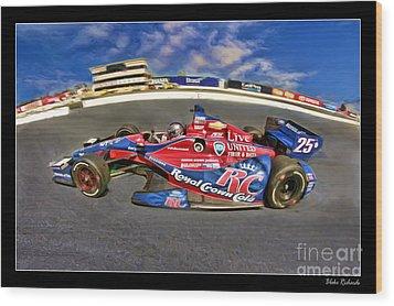 Marco Andretti Wood Print by Blake Richards