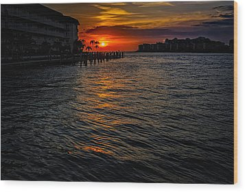 Marco Island Sunset 43 Wood Print