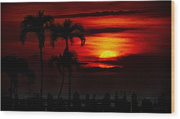 Marco Island Sunset 59 Wood Print