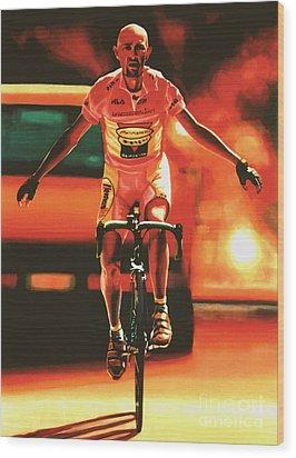 Marco Pantani Wood Print by Paul Meijering