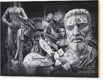 Mardi Gras Float Factory Wood Print by Gregory Dyer