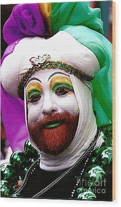 Wood Print featuring the photograph Mardi Gras New Orleans La by Michael Hoard