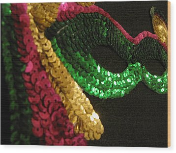 Wood Print featuring the photograph Mardi Gras Time by Beth Vincent