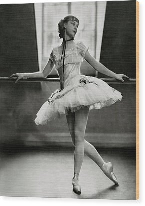 Margaret Petit At The Barre Wood Print by Nickolas Muray