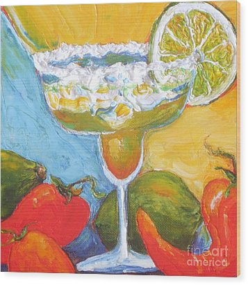 Margarita And Chile Peppers Wood Print by Paris Wyatt Llanso