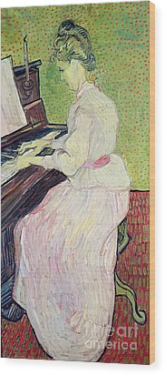 Marguerite Gachet At The Piano Wood Print by Vincent Van Gogh