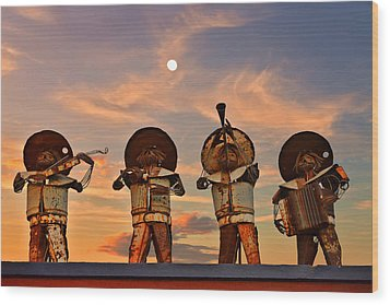Wood Print featuring the photograph Mariachi Band by Christine Till