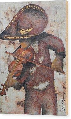 Mariachi I Wood Print by J- J- Espinoza