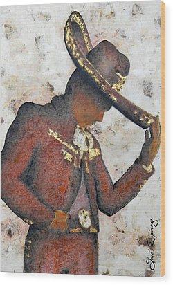 Mariachi  II Wood Print by J- J- Espinoza