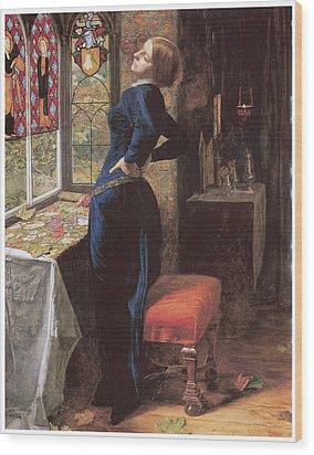 Mariana Wood Print by John Everett Millais