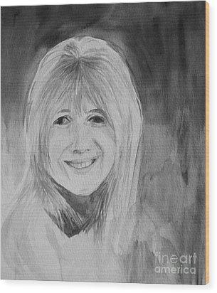 Marianne Faithfull Wood Print by Martin Howard