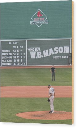 Mariano On The Mound Wood Print by Stephen Melcher