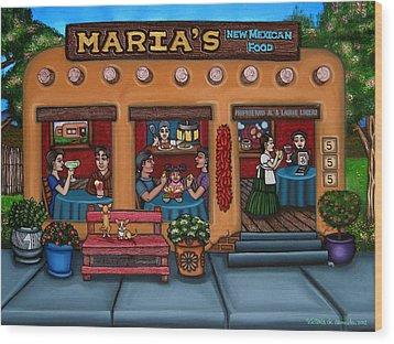 Maria's New Mexican Restaurant Wood Print by Victoria De Almeida