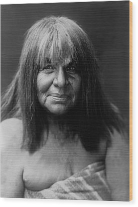Maricopa Indian Women Circa 1907 Wood Print by Aged Pixel